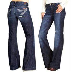 7 for All Mankind DOJO Jeans Flare Sz 27
